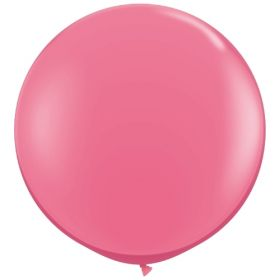 36 inch Tuf-Tex Round Latex Balloons - Hot Pink