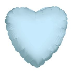 18 inch Light Blue Heart Foil Balloons