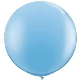 36 inch Tuf-Tex Round Latex Balloons - Baby Blue