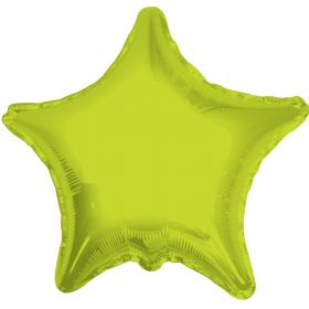18 inch Lime Green Star Foil Balloons