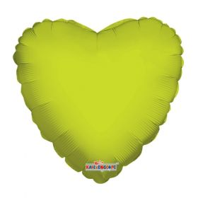 18 inch Lime Green Heart Foil Balloons