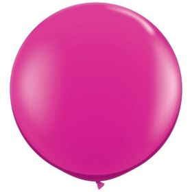 36 inch Tuf-Tex Round Latex Balloons - Crystal Magenta