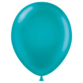 11 inch Tuf-Tex Latex Balloons - Teal - 100 count