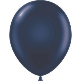 17 inch Tuf-Tex Latex Balloons - Navy Blue - 50 count