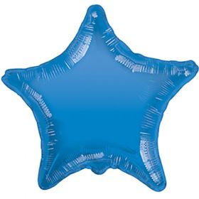 18 inch Periwinkle Blue Star Foil Balloons