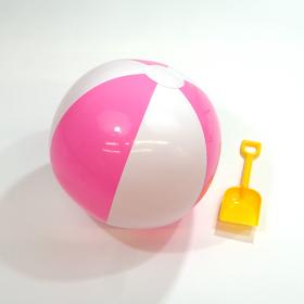 16 inch Pink White Beach Balls