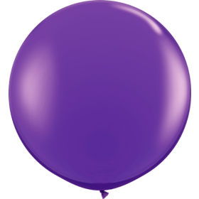 36 inch Tuf-Tex Round Latex Balloons - Plum Purple