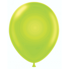 9 inch Party Style Green Apple Latex Balloons - 100 count