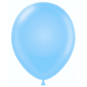 9 inch Party Style Powder Blue Latex Balloons - 100 count