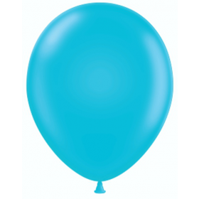 9 inch Party Style Pure Turquoise Latex Balloons - 100 count