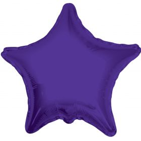 18 inch Purple Star Foil Balloons