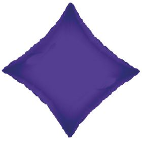 18 inch Purple Diamond Foil Balloons