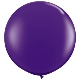 36 inch Tuf-Tex Round Latex Balloons - Crystal Purple