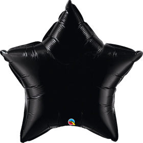 Qualatex 36 inch Black Star Foil Balloons