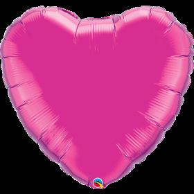 Qualatex 36 inch Magenta Heart Foil Balloons