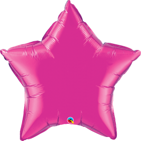 Qualatex 36 inch Magenta Star Foil Balloons