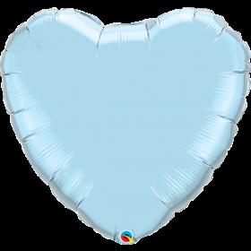 Qualatex 36 inch Light Blue Heart Foil Balloons