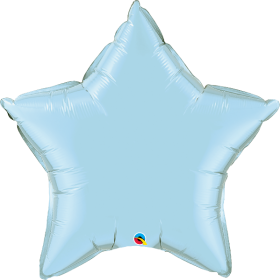 Qualatex 36 inch Light Blue Star Foil Balloons