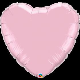 Qualatex 36 inch Light Pink Heart Foil Balloons