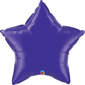 Qualatex 36 inch Purple Star Foil Balloons