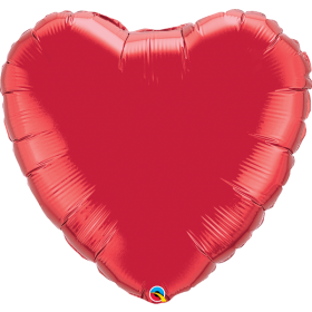 Qualatex 36 inch Ruby Red Heart Foil Balloons