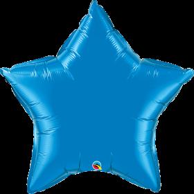 Qualatex 36 inch Sapphire Blue Star Foil Balloons