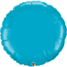 Qualatex 36 inch Turquoise Circle Foil Balloons