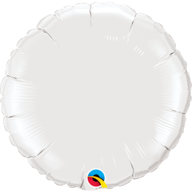 Qualatex 36 inch White Circle Foil Balloons