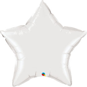 Qualatex 36 inch White Star Foil Balloons
