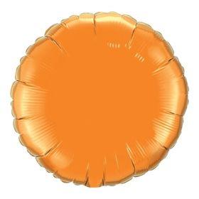 18 inch Orange Circle Foil Balloons