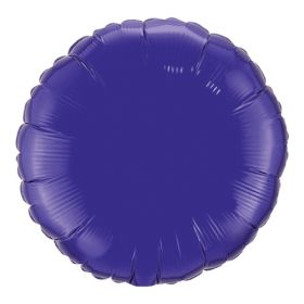 18 inch Purple Circle Foil Balloons