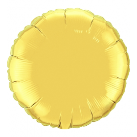 18 inch Gold Circle Foil Balloons