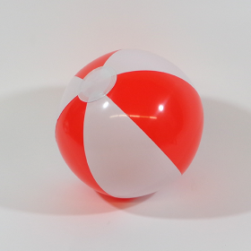 12 inch Red White Beach Balls