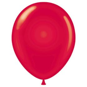 9 inch Tuf-Tex Latex Balloons - Crystal Ruby Red - 100 count