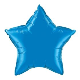 18 inch Sapphire Blue Star Foil Balloons