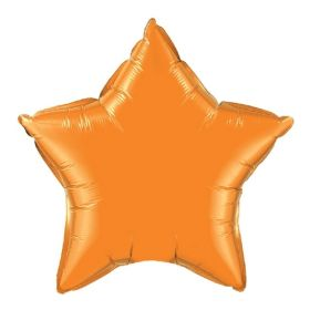 18 inch Orange Star Foil Balloons