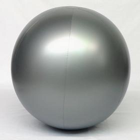 3 foot Silver Vinyl Display Ball