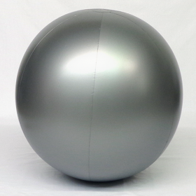 4 foot Silver Vinyl Display Ball