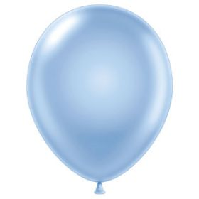 11 inch Tuf-Tex Latex Balloons - Pearl Sky Blue - 100 count