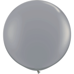 36 inch Tuf-Tex Round Latex Balloons - Smoke Gray