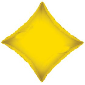 18 inch Yellow Diamond Foil Balloons