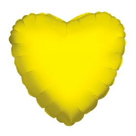 18 inch Yellow Heart Foil Balloons