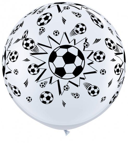 Qualatex Soccer Ball Design Wrap Print 36 Inch Latex Balloons 2 Count
