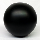 4 foot Black Vinyl Display Ball