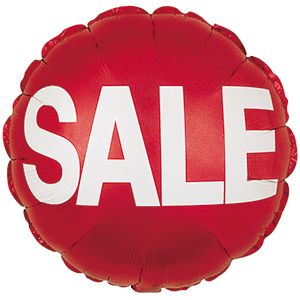 Sales & Promotional Foil Balloons - Clearance, Sale, Open House Stars, Squares, and Circles