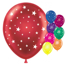 Latex Balloons - Stars, Globes, Baby, and More Designs