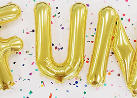 Foil Balloon Letters and Numbers in 16 and 34 Inch Sizes