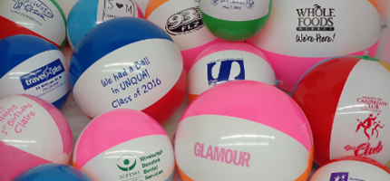 custom printed beach balls