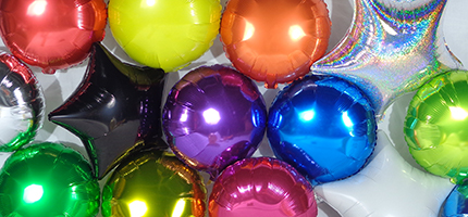 solid color foil balloons