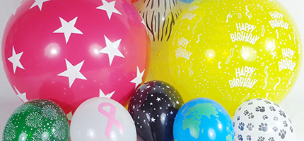 stock design printed latex balloons